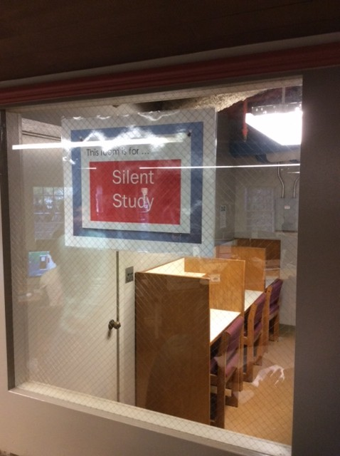 What was once a closet has been reborn as our silent study. Happier paint is on the way!