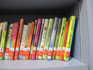 Books re-shelved according to genre